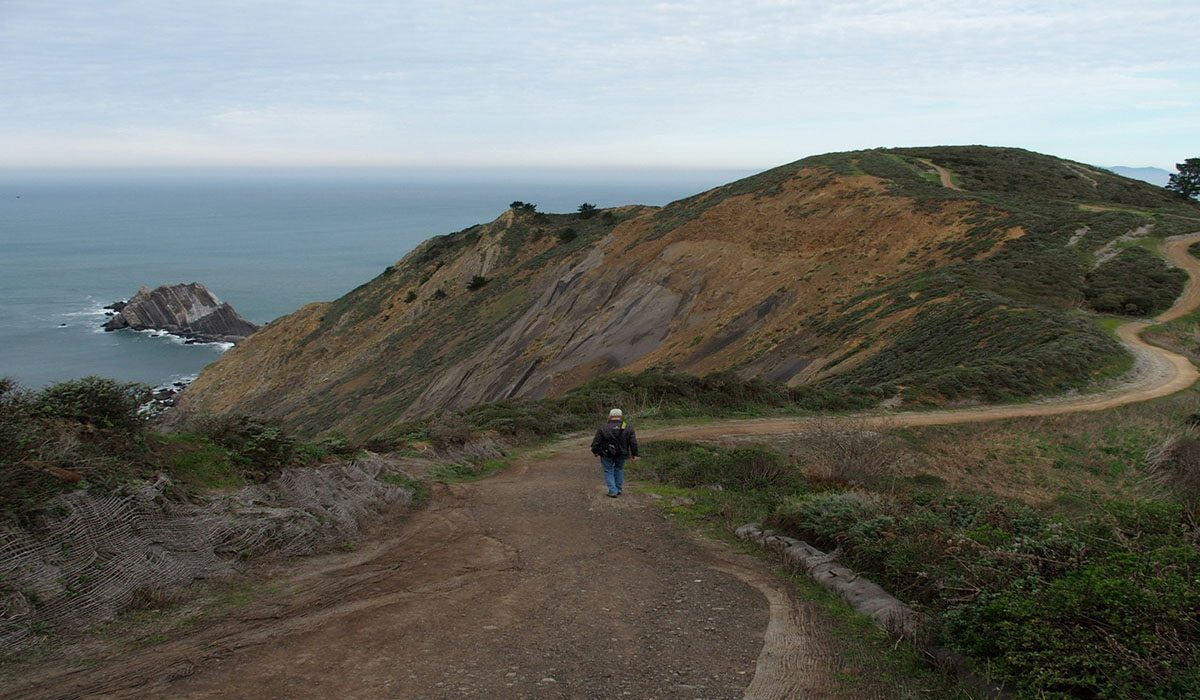 Person on Pedro Point Headlands Trail